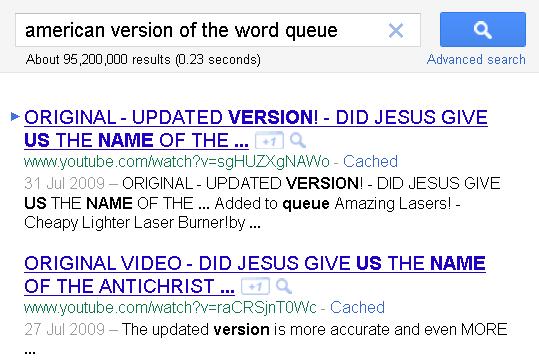 GoogleFail I Want to Queue...